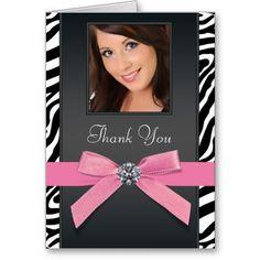 Shop Pink Zebra Photo Thank You Cards created by The_Thank_You_Store. Photo Thank You Cards, Custom Thank You Cards, Pink Zebra, Custom Photo, Portrait, Prints, Image, Color, Colour