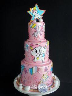 Hello Kitty Unicorno Tokidoki cake