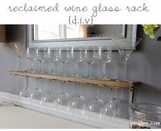 Wine glass rack DIY