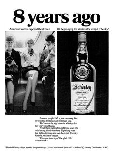 1970 Advertisement for Schenley Blended Whiskey