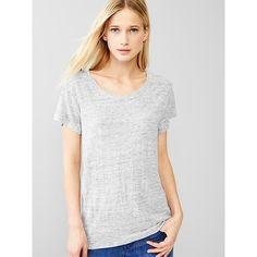Gap Women Linen Tee ($30) ❤ liked on Polyvore