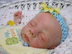 rjbour Joe Bourland BABY Heatherly REBORN Newborn Wolke by Karola Wegerich