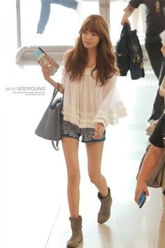 SNSD - Sooyoung ♡ // Airport Fashion