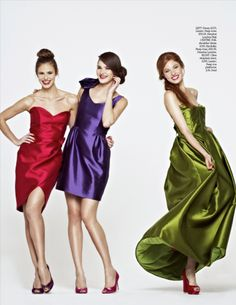 """Featured in """"You and Your Wedding"""" April 2012 #bridesmaiddresses #weddings #colorful"""