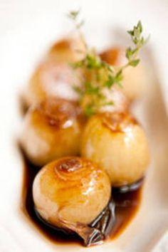 Cebollitas salteadas con jugo de naranja - Recetas