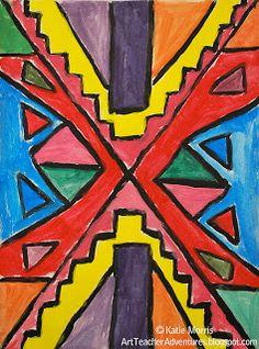 Adventures of an Art Teacher: 5th Grade Ndebele-Inspired Paintings