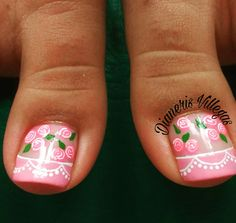 Uñas Pretty Toe Nails, Pretty Toes, Gorgeous Nails, Purple And Pink Nails, This Little Piggy, Toe Nail Designs, Toe Nail Art, Christmas Nail Art, Manicure And Pedicure