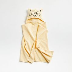 Kids Leopard Organic Hooded Towel | Crate and Barrel