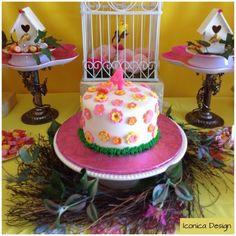 Cake at a Garden Party #garden #partycake