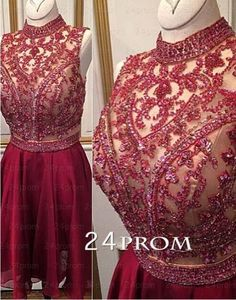 A wide selection of short cheap homecoming dresses,short homecoming dresses under 100 dollars and short pink homecoming dresses are at a discount and weddingdressesonline recommends  high neck knee length homecoming dresses 2016 chiffon beaded sleeveless short a-line zipper formal cocktail party dress gowns custom made greatly.