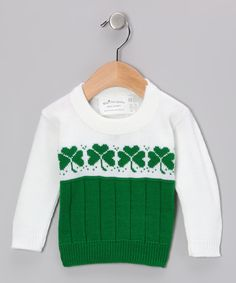 Look at this ishopirish Kelly Green & White Shamrock Sweater - Infant, Toddler & Kids on #zulily today!