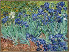 Irises was painted while Vincent van Gogh was living at the asylum at Saint Paul-de-Mausole in Saint-Rémy-de-Provence.