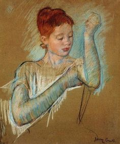 Mary Cassatt, The Long Gloves, 1889