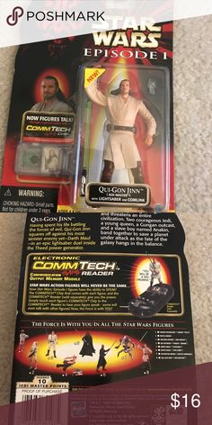 Star Wars action figures Qui-Gon Jinn Vintage 1999 Brand:Star Wars Figure type:Action Minimum age:4 years & up Comes with CommTech Chip that works with the CommTech Reader (Sold Separately). Figure talks when the chip is put on CommTech reader. Star Wars Other