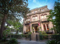 Most Beautiful Squares of Savannah | ... Savannah Georgia. The Hamilton Turner Inn is one of Savannah's most