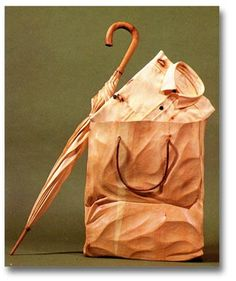 Journeys in Art: Livio De Marchi Whittling Wood, Just Peachy, Wood Creations, Made Of Wood, Wood Sculpture, Unique Art, Wood Art, Paper Shopping Bag, Favorite Color