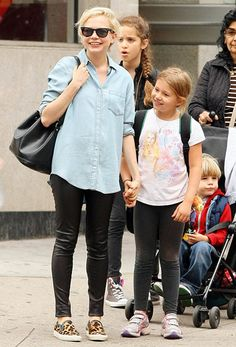 Michelle Williams with her daughter Matilda in Brooklyn.