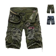 79ea3dc2bf6b5 Summer Mens Casual Cargo Combat Camo Cotton Overall Shorts Pants  9.99  76.08% off