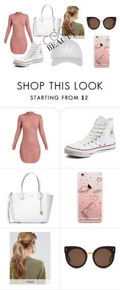 """Untitled #19"" by lineocarol on Polyvore featuring Converse, Michael Kors, Kitsch, STELLA McCARTNEY and Topshop"