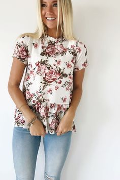 floral blouse   ROOLEE