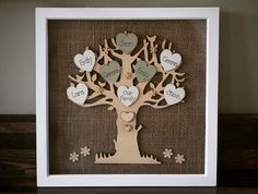 A personal favourite from my Etsy shop https://www.etsy.com/uk/listing/538888163/family-tree-frame-personalised-handmade