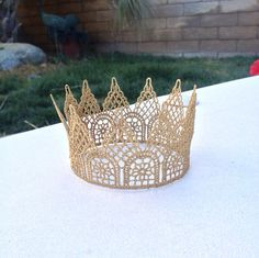 Baby Gold Crown Photo Prop Newborn Photos Little Prince Princess Cake Topper Nusery on Etsy, $11.00