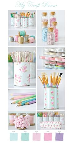 Craft supply organization ideas.