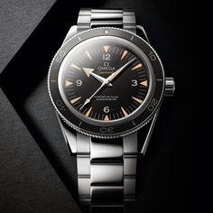 Watches by SJX: Baselworld Introducing the Omega Seamaster 300 Master Co-Axial - Remaking a Classic with the Latest Tech (with specs a. Omega Seamaster 300, Omega Speedmaster, Omega Railmaster, Best Watches For Men, Fine Watches, Cool Watches, Dream Watches, Wrist Watches, Men's Watches