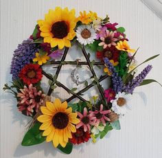 Pentacle, Floral Wreath, Wreaths, Home Decor, Decoration Home, Door Wreaths, Room Decor, Deco Mesh Wreaths, Interior Design