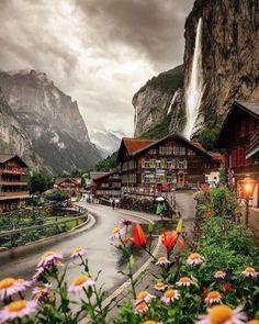 The valley of 72 waterfalls, Lauterbrunnen, Switzerland - 9GAG