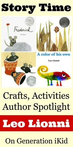 Leo Lionni Books, Crafts, Activities and Author Spotlight on Generation iKid