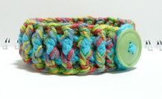 Nicely Created For You: Crocheted Bracelet Turquoise Tasha