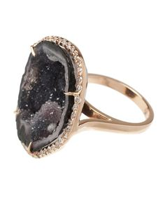 Browns fashion & designer clothes & clothing | KIMBERLY MCDONALD | 18K Rose Gold and Diamond Geode Ring