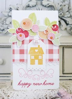 Happy New Home Card by Melissa Phillips for Papertrey Ink (August 2015)