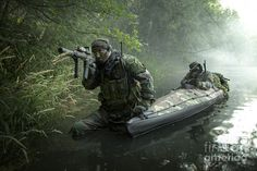 Navy Seals Navigate The Waters Photograph  - Navy Seals Navigate The Waters Fine Art Print