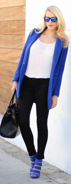 Cobalt Blue Basic Coat
