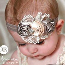 Infantil bebês headband da flor rosa lace hairband da criança 1 PCS varejo do bebê meninas Felt headbands flor frete grátis xk112(China (Mainland))