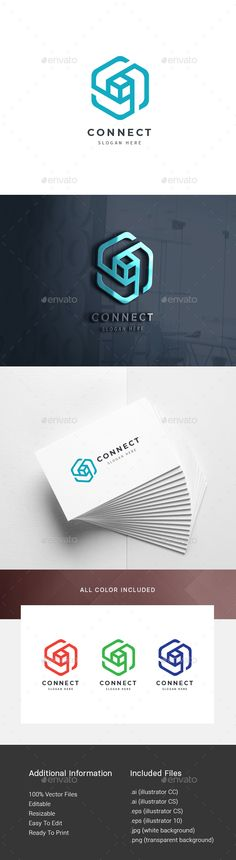 Buy Connecting Logo by on GraphicRiver. Logo Template : Logos are vector based built in Illustrator software. Typo Design, Sketch Design, Graphic Design Typography, Branding Design, Typography Logo, Logos, Roofing Logo, Connect Logo, Music Collage
