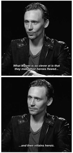 Tom Hiddleston on Loki and Marvel in general. Preach it, brotha! This would help explain my, um, *cough* fascination with Loki. Marvel Dc, Marvel Villains, Marvel Comics, Marvel Actors, Dc Memes, Marvel Memes, Avengers Memes, Cartoon Memes, Cartoons