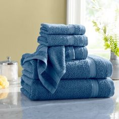 Bath Towels You'll Love in 2020 Dobby Weave, Washing Machine And Dryer, Fingertip Towels, Turkish Cotton Towels, Shower Curtain Rods, Shower Curtains, Decorative Towels, Hand Towel Sets, Faux Fur Throw