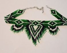 fringe necklace necklace seed bead gerdan necklace bead by UMEUM