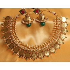GORGEOUS ROYAL COIN NECKLACE WITH HUGE EARRINGS