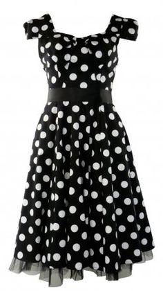 Vintage style polka dot dresses
