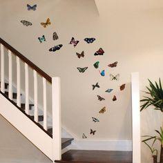 Muursticker - vlinders - 50 stuks - totaal formaat 130 x 200 cm - Multi