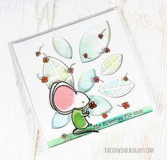 Kartenwind: Blumenregen Glückwunschkarte mit danipeuss Klartextstempel