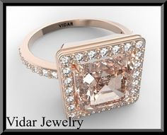 Engagement RingMorganite Engagement RingDiamond by Vidarjewelry, $2099.00
