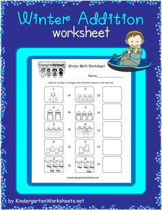 Kids can practice adding jackets, winter hats, snowmen, mittens, and scarves in this free winter worksheet for kindergarten. Addition Worksheets, Writing Worksheets, Kindergarten Worksheets, Worksheets For Kids, Alphabet Writing, Simple Words, New Things To Learn, Snowmen, Mittens