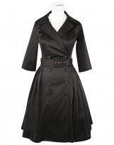 D'Amour Trench Coat Dress (Black) - Dresses - Categories