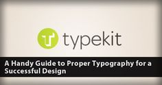 A Handy Guide in Proper Web Typography for a Outstanding Web Design #fonts #typeface #web_typography