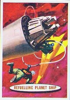 Space Cards #70: Refueling Planet Ship